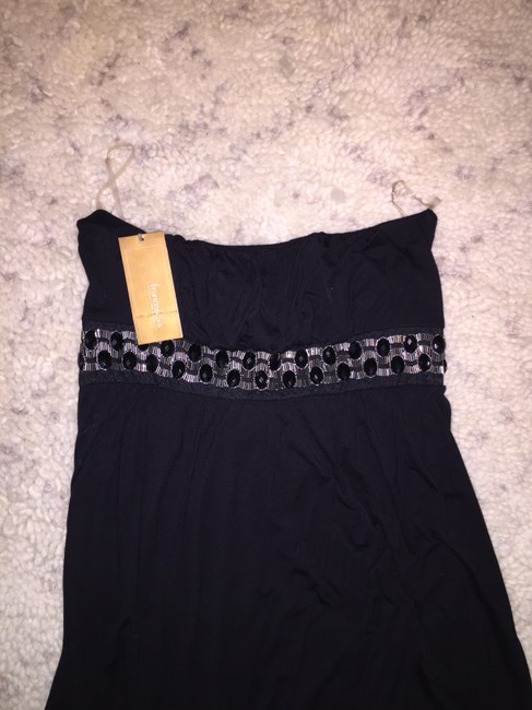 Francesca's short dress Black Embellished Bedazzled on Tradesy