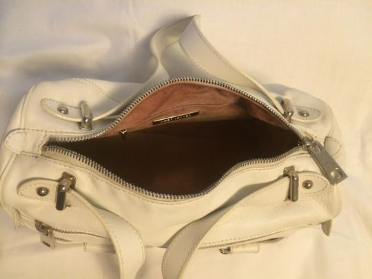 Marc Jacobs Silver Hardware Leather Satchel in White