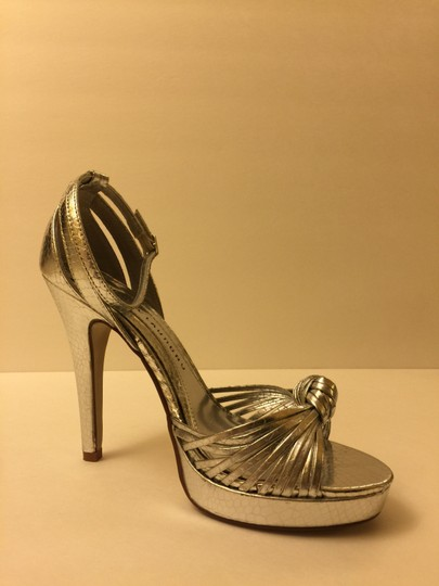 Chinese Laundry Strappy Sandals Silver Pumps