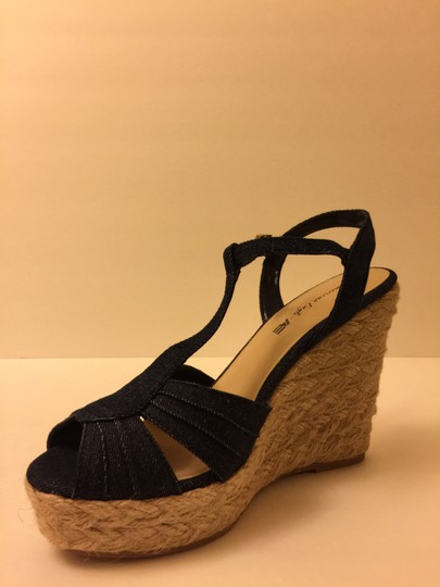 American Eagle Outfitters Fashion Blue Jean Wedges
