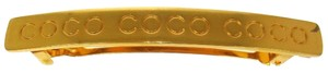 Chanel AUTH CHANEL VINTAGE CC LOGOS GOLD TONE HAIR BARRETTE FRANCE ACCESSORIES W24205