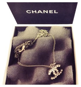 Chanel Chanel crystal cc necklace