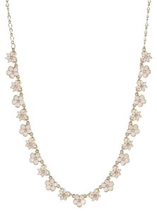 Kate Spade Kate Spade Graceful Pink & Gold Mini Floral Collar Necklace