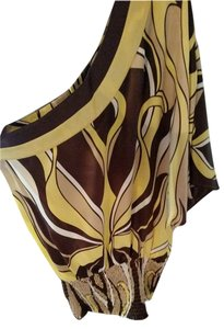 bebe Silk Off Top Brown Multi