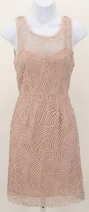Minuet Petite Minuet Ribbon Applique Mesh Overlay Sleeveless Fitted B51 Dress