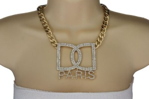 Preload https://item2.tradesy.com/images/women-gold-necklace-metal-chains-big-d-hand-cuffs-paris-fashion-jewelry-charm-10457971-0-0.jpg?width=440&height=440
