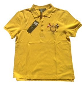 Ralph Lauren Polo Summer Jeans Cotton T Shirt Yellow