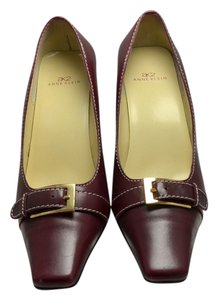 AK Anne Klein Leather Maroon Pumps