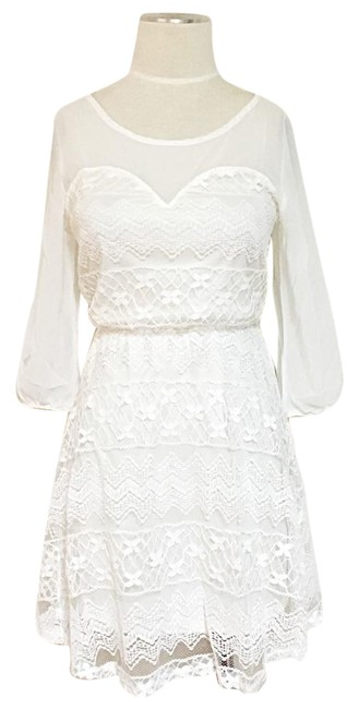 Preload https://img-static.tradesy.com/item/1045952/white-lacey-cutout-back-detailed-sheer-short-casual-dress-size-4-s-0-2-650-650.jpg