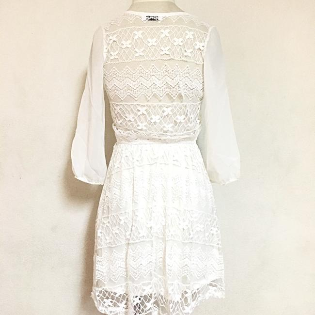 Jun & Min short dress White on Tradesy