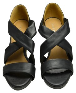 Nine West Leather Black Sandals