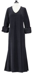Black Maxi Dress by Kacktus Fur