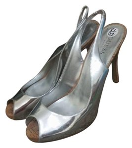 Guess By Marciano Silver Platforms
