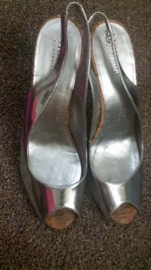 Guess By Marciano Heels Heels Sling Backs Open Toe Silver Platforms