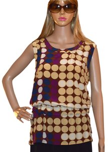 Marni Top beige / brown / purple / navy