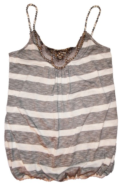 Preload https://item2.tradesy.com/images/gray-white-striped-twisted-rope-straps-studded-beaded-camisole-tank-topcami-size-6-s-10460221-0-1.jpg?width=400&height=650