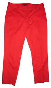 Theory Cropped Yanette C Stretch Capris Red