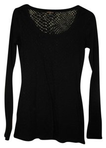 Express Sheer Pattern T Shirt Black
