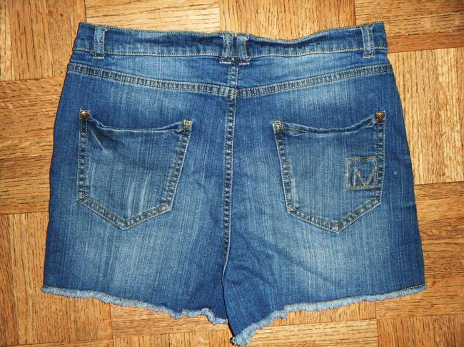 Material Girl Stretch Distressed Faded Ripped Worn Daisy Dukes High-rise High-waisted Cut Off Shorts Blue