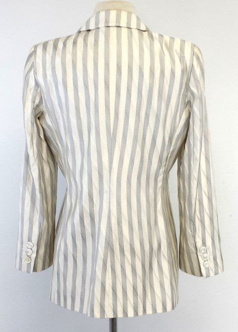 Armani Collezioni Cream Silver Striped Jacket