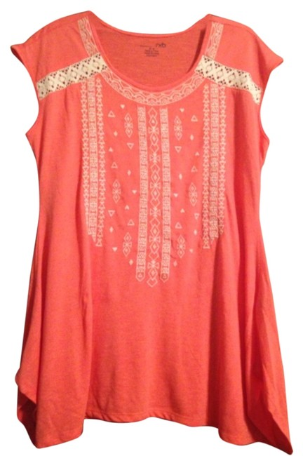 Item - Coral Above Knee Short Casual Dress Size 10 (M)