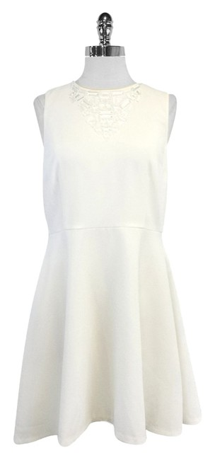 Preload https://item1.tradesy.com/images/trina-turk-white-fit-and-flared-jewel-mini-short-casual-dress-size-10-m-10460875-0-1.jpg?width=400&height=650