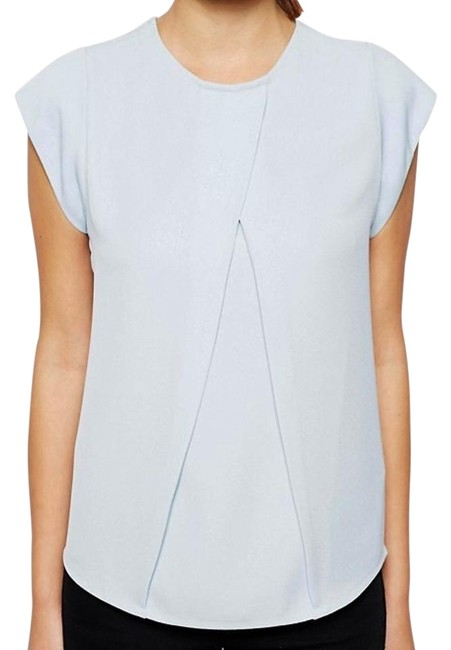ASOS Origami Pleat Pastel Blue Top Sky blue