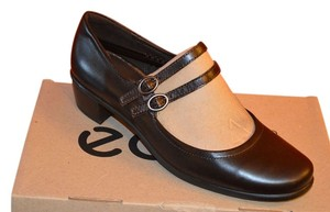 Ecco Mary Jane Coffee Pearl Pearl Brown Flats