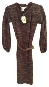Max Studio short dress Brown Belted on Tradesy