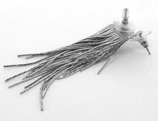Other Silver Metal Fringe Earrings