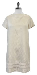 Built By Wendy Cream Spotted Short Sleeve Shift Shift Dress