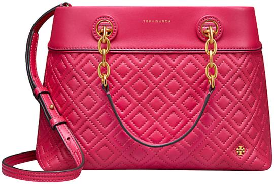 Preload https://item2.tradesy.com/images/tory-burch-fleming-small-bright-azalea-leather-tote-10465066-0-4.jpg?width=440&height=440