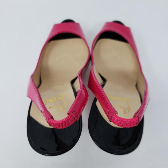 Christian Louboutin Patent Leather Lady Lady Peep Lady Peep Sling Platform Pink, White, Black Pumps