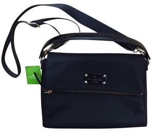 Kate Spade Nylon Structured Black Messenger Bag