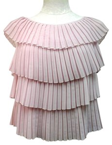 MILLY Blush Cap Sleeve Top Pink