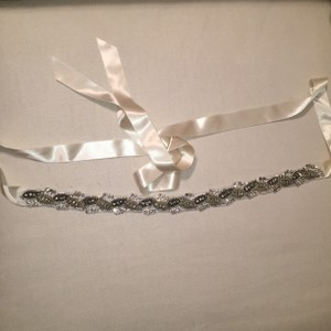 J.Crew Silver and Ivory Sash