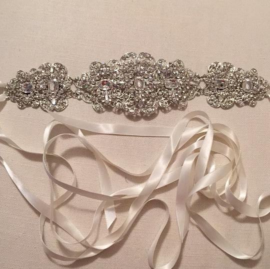 Thomas Knoell Designs Silver and Ivory Sash