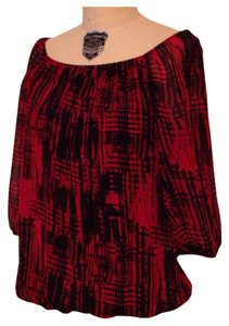 Vince Camuto Top Red Black