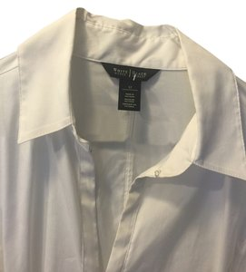 White House | Black Market Button Down Shirt White