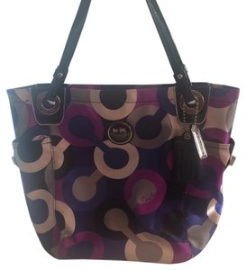 Coach Tote in Multi Blue And Purple