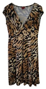 Merona Leopard V-neck Dress