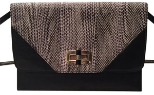 Diane von Furstenberg Dvf Clutch Snakeskin Cross Body Bag