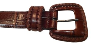 Other Brown Croc-Embossed Leather Belt