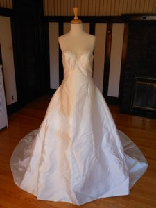 La Sposa Ivory Satin Ripley Destination Wedding Dress Size 10 (M)