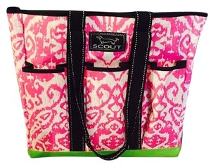 Scout Tote in Pink with Black and White detials