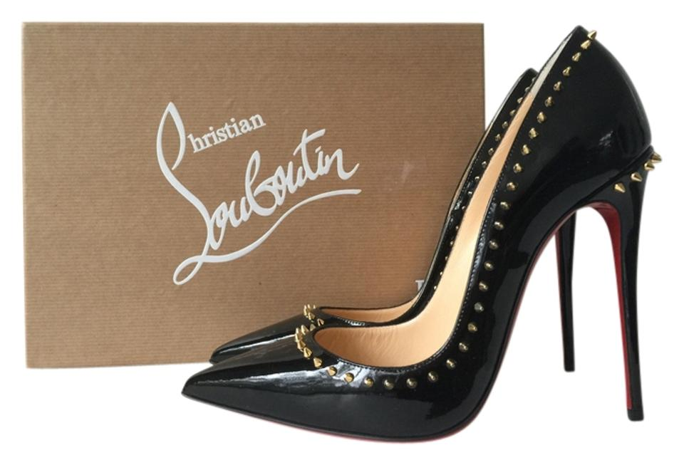 1fa26545e947 Christian Louboutin Anjalina 120 120mm Gold Spiked Spike Spikes Patent  Leather Pigalle Follies 100 100mm So ...