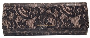 Diane von Furstenberg Lace Formal Evening Dvf Black and Nude Clutch