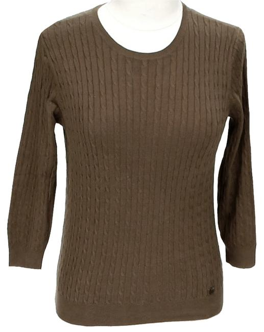 Preload https://item4.tradesy.com/images/michael-michael-kors-brown-cable-knit-sweaterpullover-size-12-l-10466533-0-1.jpg?width=400&height=650