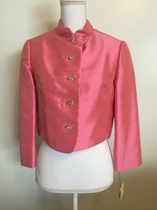 Pink Silk Jacket Retro Bridesmaid/Mob Dress Size 6 (S)