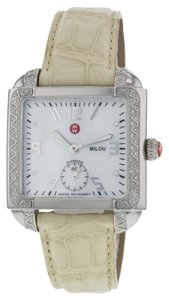 Michele Michele MW15A01A2025 Milou Diamond Cream Band Women's Watch (4335)